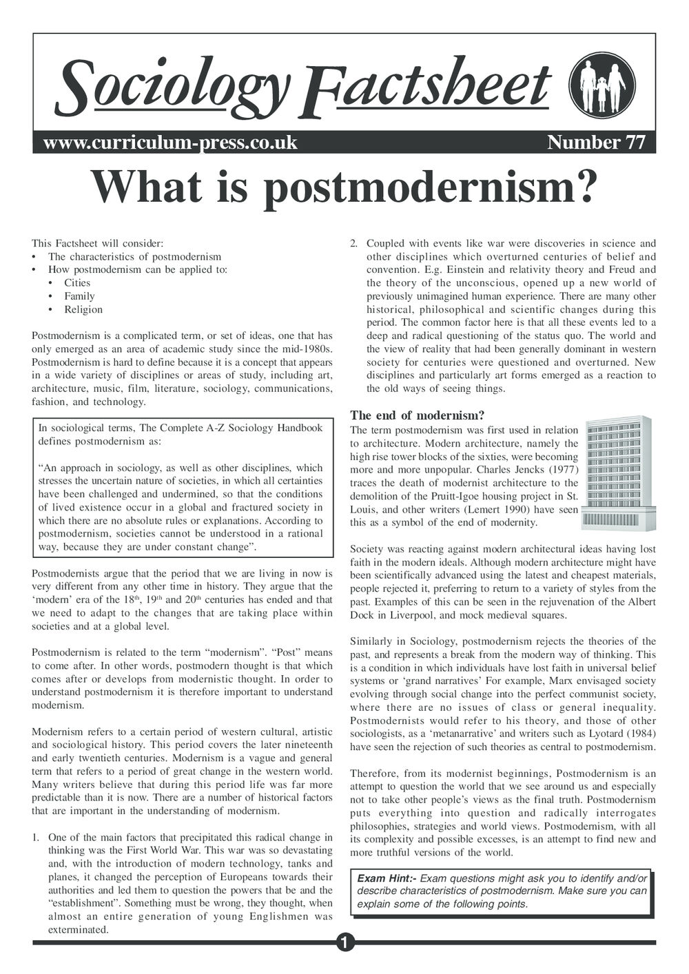 4da6868ec59e Curriculum Press - What is Postmodernism