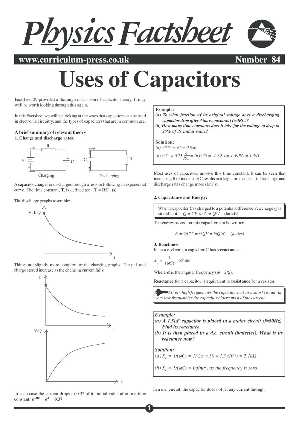84 Uses Capacitor