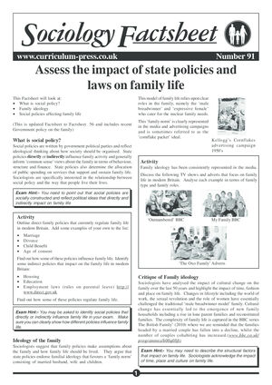 91 State Policies On Family Life