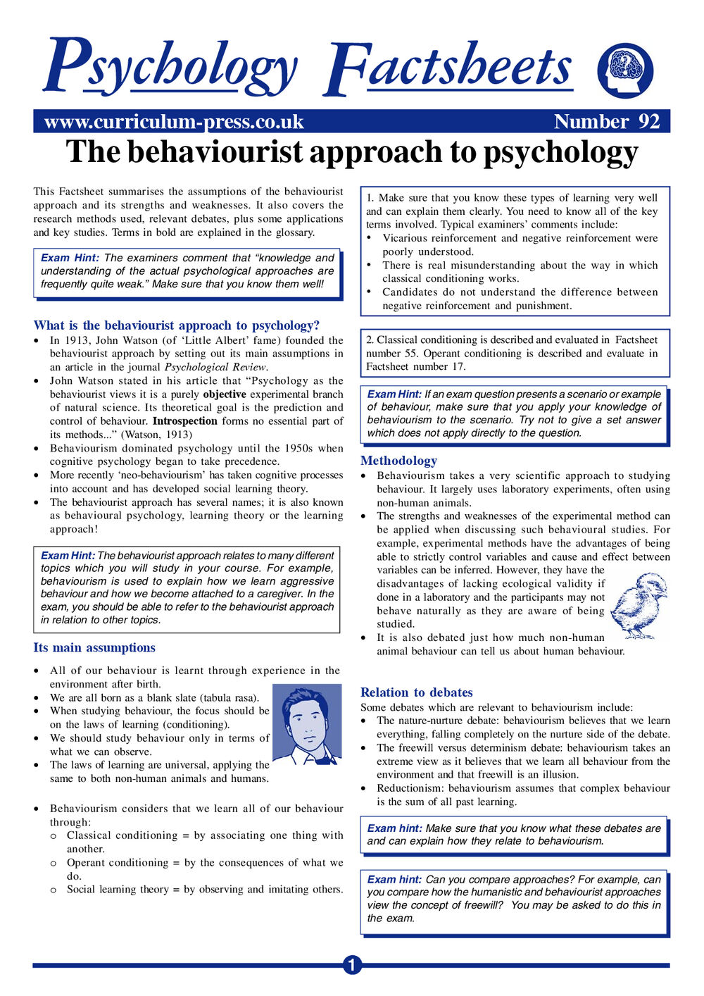 92 Behaviourist Approach
