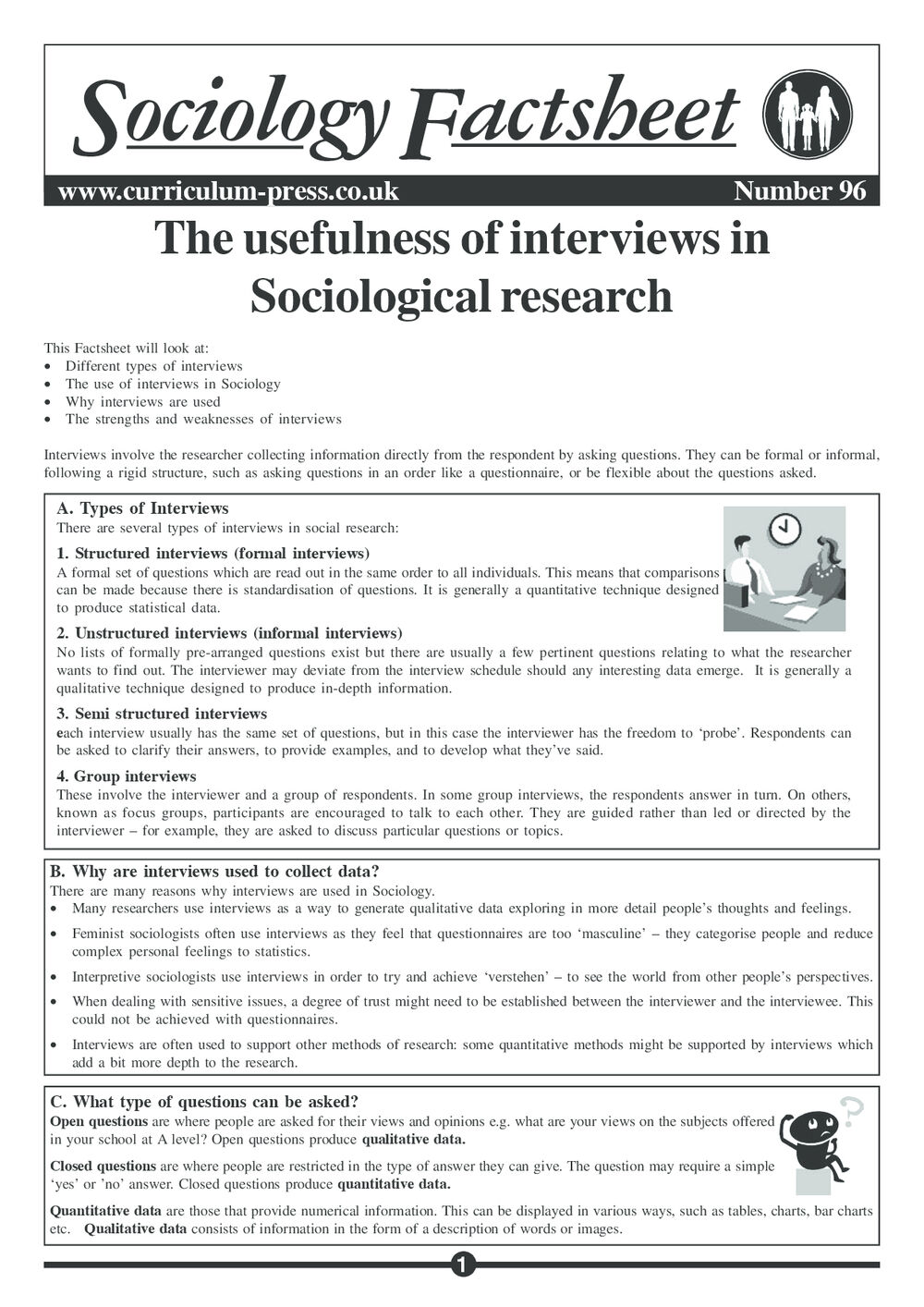 Curriculum Press - The Usefulness of Interviews in