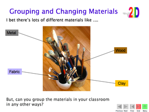 2D Grouping And Changing Materials