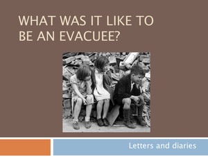 10 What Was It Like To Be An Evacuee