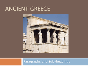 16 Ancient Greece Paragraphs & Subheadings