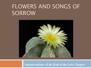 19 Flowers And Songs Of Sorrow  Interpretations
