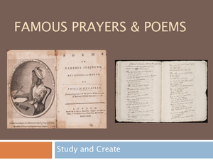 Famous  Prayers & Poems