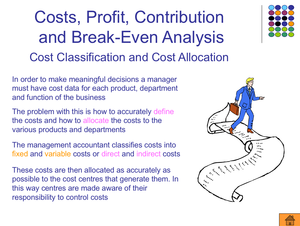 As  Classificationofcosts,profit,contribution