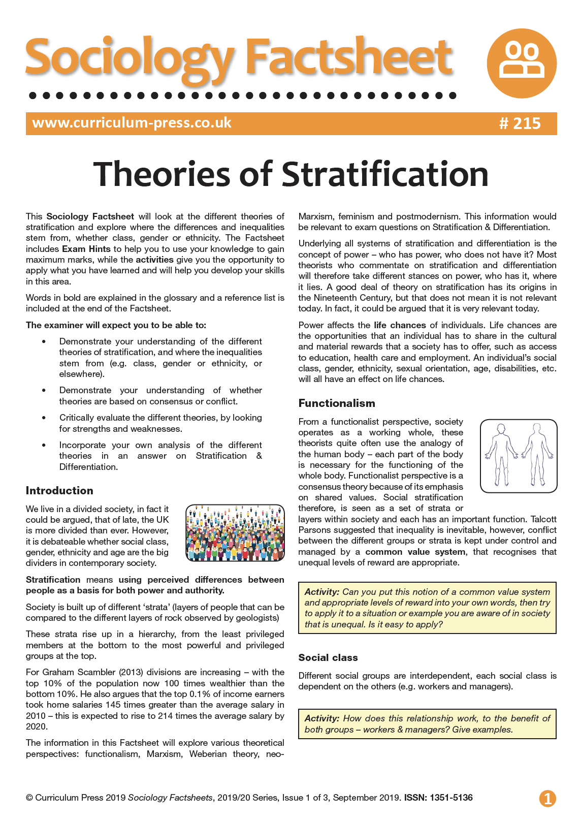 A Level Sociology Factsheets | Teaching Resources | AQA, OCR